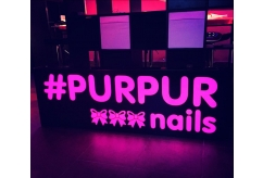 Световой короб для магазина PURPUR